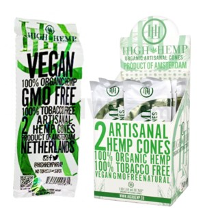 High Hemp Organic Cones - Original 2pk 15ct/bx
