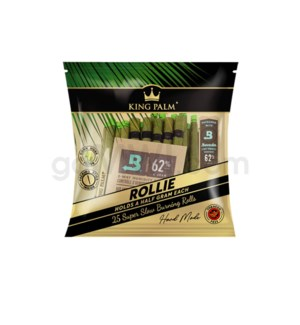 King Palm Rollies Pre-Rolled Wraps 25/pk 8ct/bx