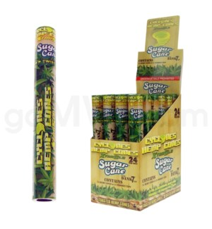 Cyclones Hemp Pre-Rolled Cones-Sugar Cane 2pk 24ct/bx