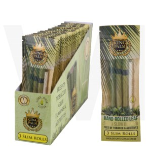 King Palm Herbal Organic Slim Pre-Rolled Wraps 3/pk 24ct