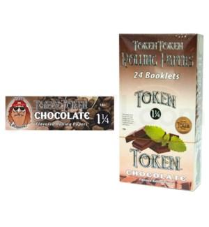 "DISC Toke Token 1 1/4"" Rolling Paper-Chocolate 50/pk 24ct"