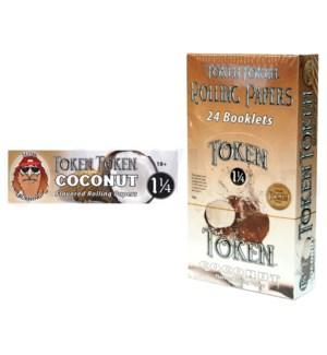 """DISC Toke Token 1 1/4"""" Rolling Paper-Coconut 50/pk 24ctbx"""