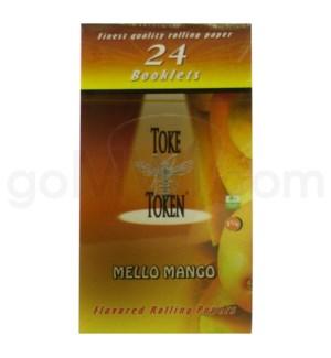 "DISC Toke Token 1 1/4"" Rolling Paper- Mello Mango 50/pk 24ct"