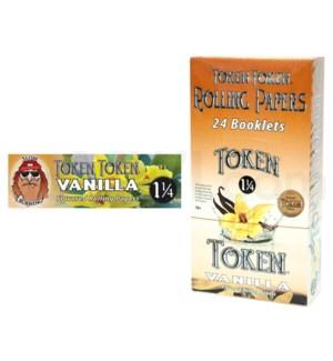 """DISC Toke Token 1 1/4"""" Rolling Paper-Vanilla 50/pk 24ct/bx"""