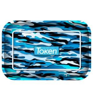 """Toke Token Blue Camo Tray Medium 50/cs 11.75"""" x7.75"""""""