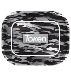 """Toke Token Black Camo Tray Small 50/cs 7.75x6.22"""""""