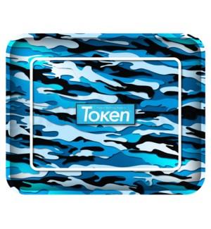 "Toke Token Blue Camo Tray Extra Large 50/cs 14.25"" x 11.5"""