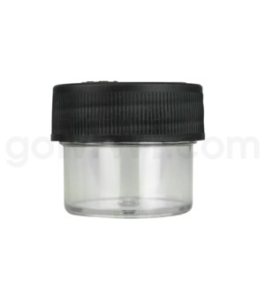 Ultra Platinum Vial Clear Plastic Container 28/25 - Black