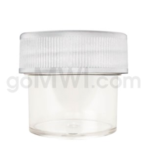 Ultra Platinum Vial Clear Plastic Container 28/25 - White