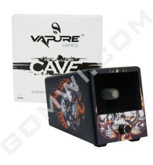 DISC Vaporizer Vapure Cave Non Digital Skull Flame