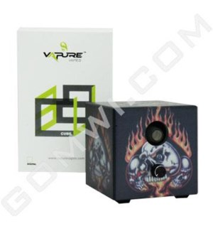 DISC Vaporizer Vapure Cube Non Digital Skull Flame