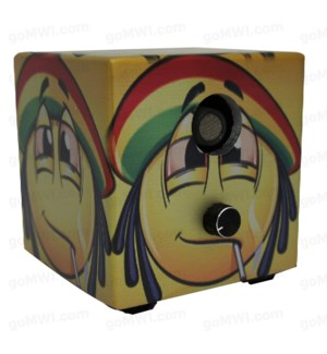 DISC Vaporizer Vapure Cube Non Digital Smiley Rasta