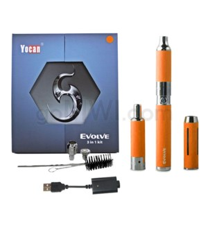 Yocan Evolve 3-in-1 650mah Vaporizer Starter Kit-Orange