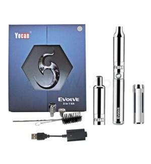 Yocan Evolve 3-in-1 650mah Vaporizer Starter Kit-Silver
