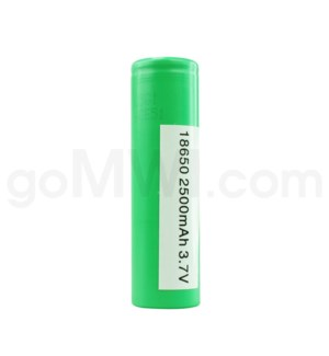 Green Battery 18650 2500mah 3.7v 1ct