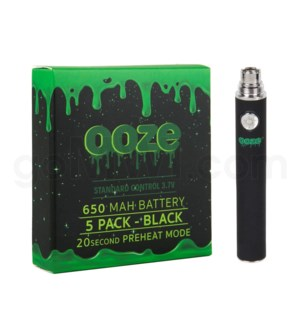 Ooze Standard Battery 650mah/3.7v 5ct/display BLACK