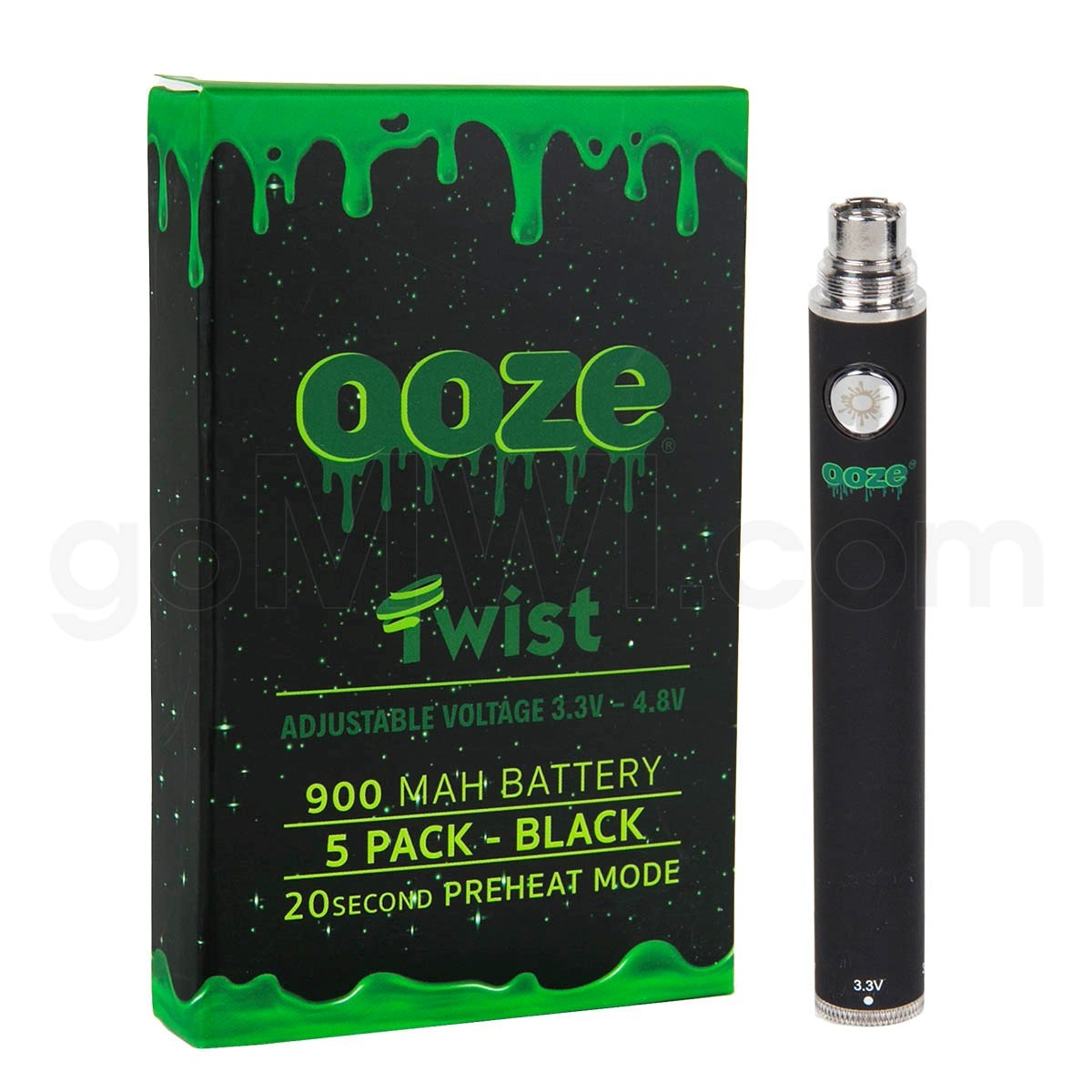 OOZE VAPORIZER BATTERIES AND SILICONE PIPES