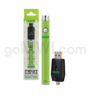 Ooze Slim Pen Twist Battery 320mah/3.3-4.8v - Green