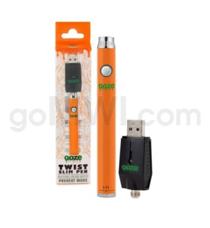 Ooze Slim Pen Twist Battery 320mah/3.3-4.8v - Orange