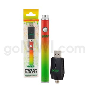 Ooze Slim Pen Twist Battery 320mah/3.3-4.8v - Rasta