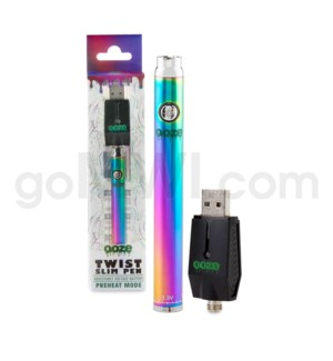 Ooze Slim Pen Twist Battery 320mah/3.3-4.8v - Rainbow