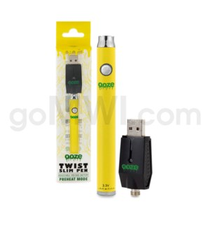 Ooze Slim Pen Twist Battery 320mah/3.3-4.8v - Yellow