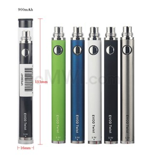 Evod Twist Battery 900mah - Assorted Colors