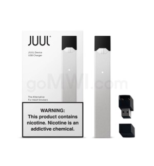 Juul Pod Basic Device Kit - SILVER 8PCS/BX 48/cs