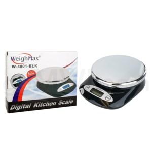 WeighMax 4801 5kg x 11 lbs Kitchen Scales - Black