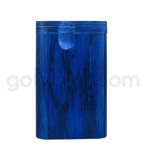 "Wood Box 3""  Blue W/O Bat"