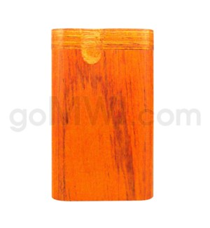 "Wood Box 3""  Orange W/O Bat"