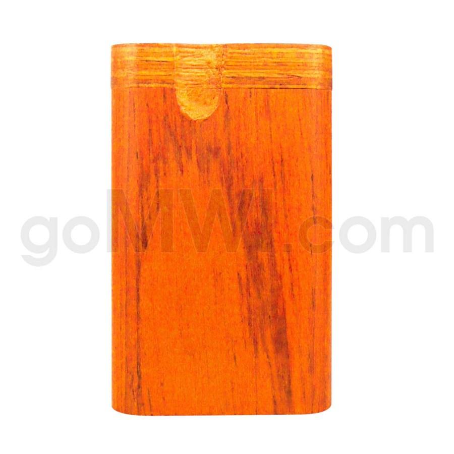 "Wood Box 3""  Orange W/O Bat"
