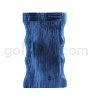 """Wood Box 3"""" Double Grip Blue W/O Bat"""