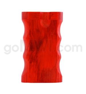 "Wood Box 3"" Double Grip Red W/O Bat"