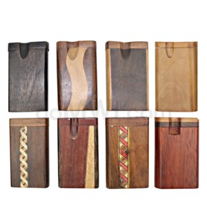 "Wood Box 3"" Assorted Designs W/O Bat"