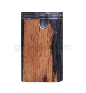 "Wood Box 3"" Plain Two Tone No Grip W/O Bat"