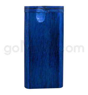 "Wood Box 4"" Blue W/O Bat"