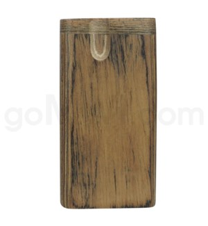 "Wood Box 4"" Plain brown No Grip W/O Bat"