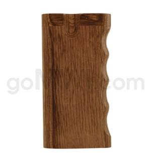 "Wood Box 4"" Single Grip BROWN W/O Bat"
