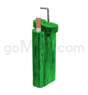 "Wood Box 4"" w/ poker Green W/O Bat"