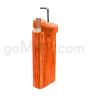 "Wood Box 4""  w/ Poker Orange W/O Bat"