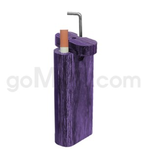 "Wood Box 4""  w/ Poker Purple W/O Bat"