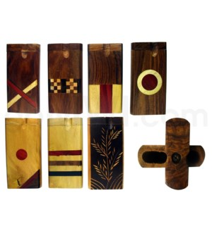 "Wood Box 4"" Assorted designs W/O Bat (KIT0065-1)"