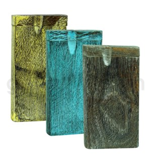 "Wood Box 4"" Assorted Colors W/O Bat (KIT0065)"