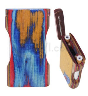 "Wood Box 4"" Plain Multicolor w/Double Window No Grip W/O Bat"