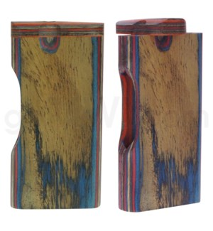 "Wood Box 4"" Plain Multicolor w/ Window No Grip W/O Bat"