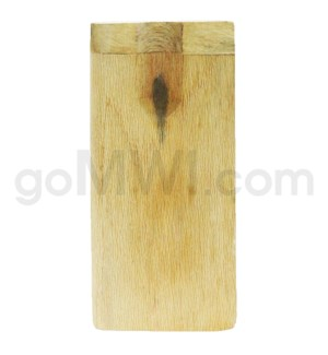 "Wood Box 4"" Plain Wood w/Grip W/O Bat"
