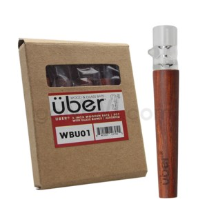 "Uber Wooden Bat 3"" Glass Bowl"