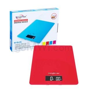 WeighMax GL-25 11kg x 25 lbs Kitchen Scales- Red