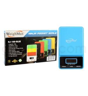 WeighMax NJ-100 100g x 0.01g Pocket Scales - Blue